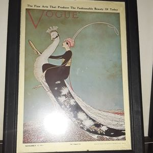 Vogue Wall Art - Two vogue magazine cover postcards [originals]